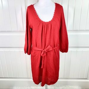 Laundry by Shelli Segal Red Knit Sweater Dress